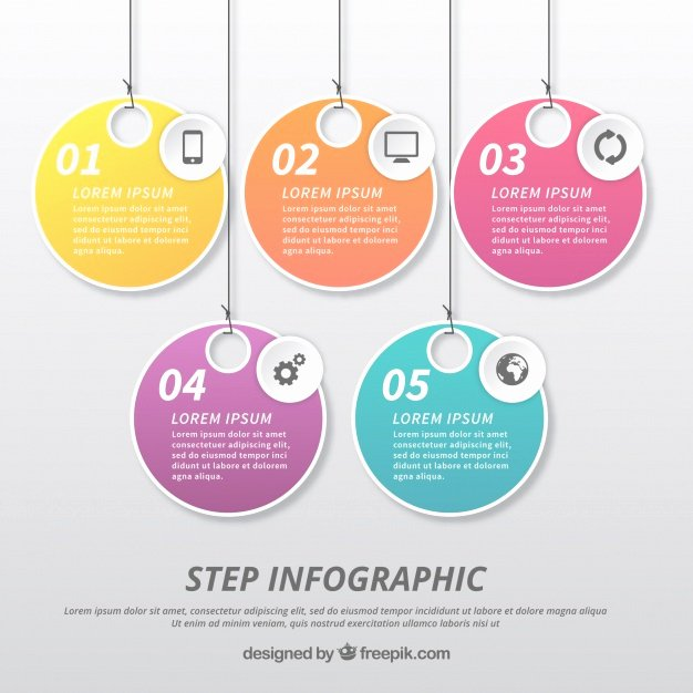 Infographic Template with Label Design Vector