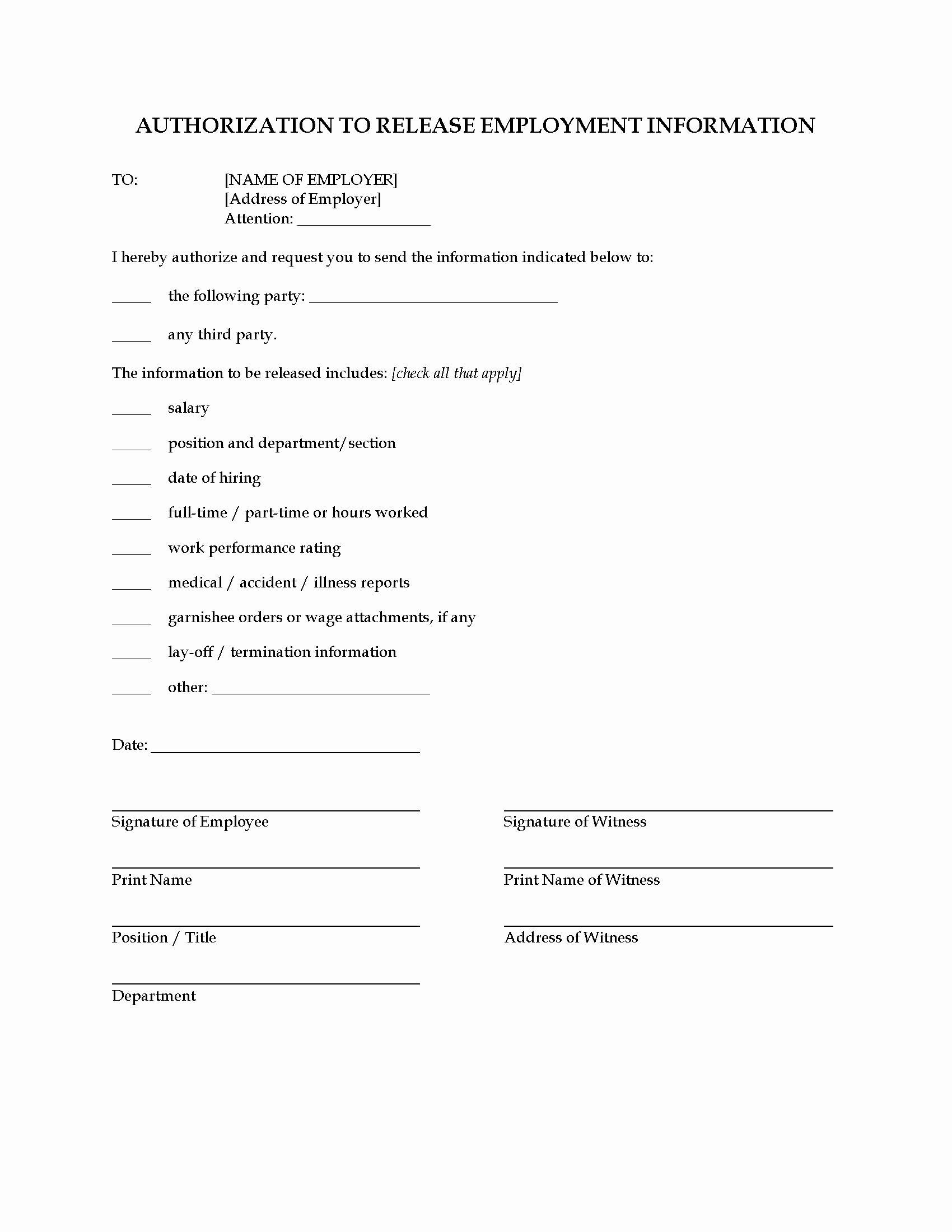 Information Release form Template Portablegasgrillweber