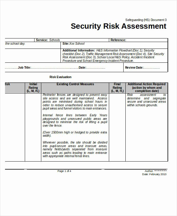 Information Security Risk assessment Template Image