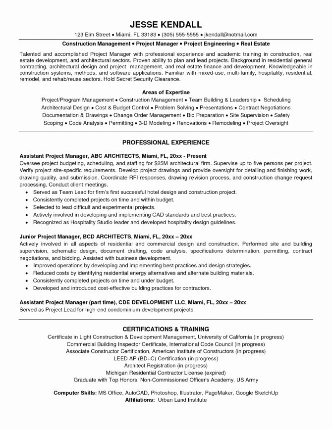 Infrastructure Project Management It Manager Resume
