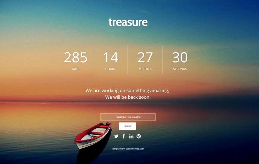 Ing soon Responsive Web Template Webthemez
