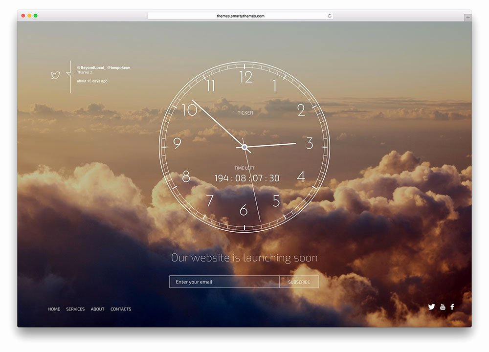Ing soon Website Template HTML5 Free Templates Data
