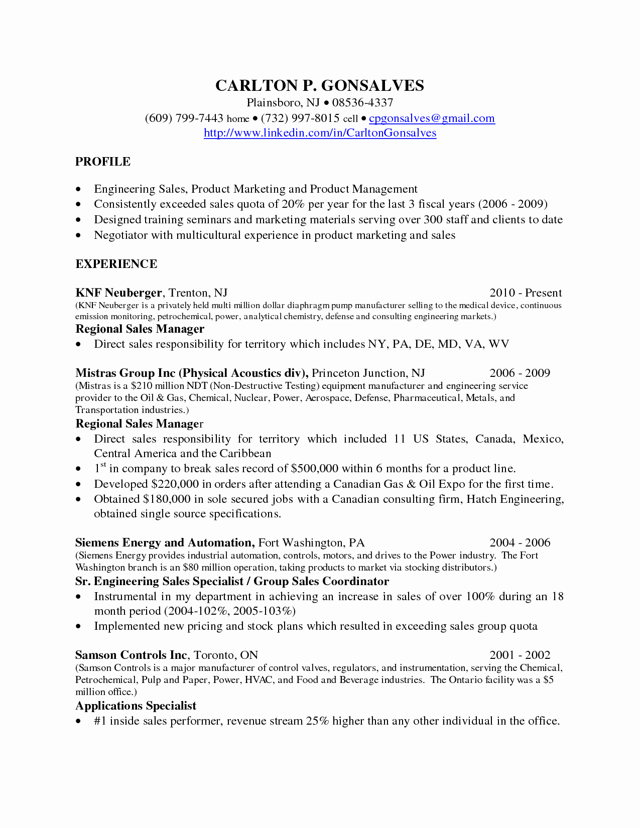 Inside Sales Resume Sample Letsridenow