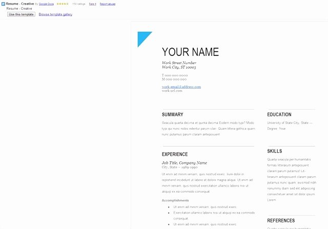 Inspirational Google Resume Templates Free – Smart Site