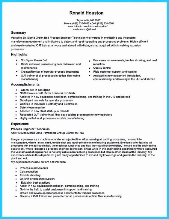 Installation Technician Resume Sample