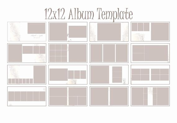 Instant Download 12x12 Square Album Indesign Template for Grapher 19 Spreads