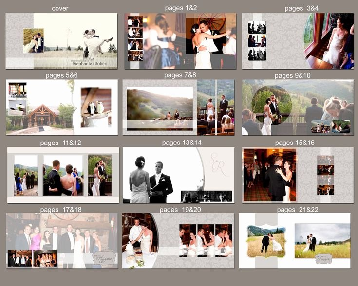 Instant Download 12x12 Wedding Album Template Couple