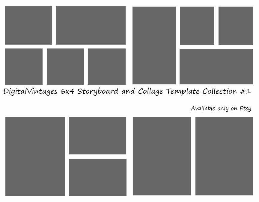 Instant Download 6x4 Storyboard Graphers Template 4