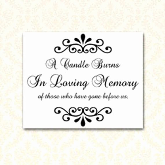 Instant Download A Candle Burns In Loving Memory 8x10