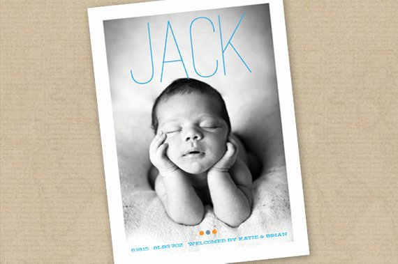 Instant Download Birth Announcement Template Boy or Girl