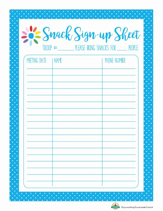 Instant Download Daisy Girl Scout Snack by Scoutleadercentral