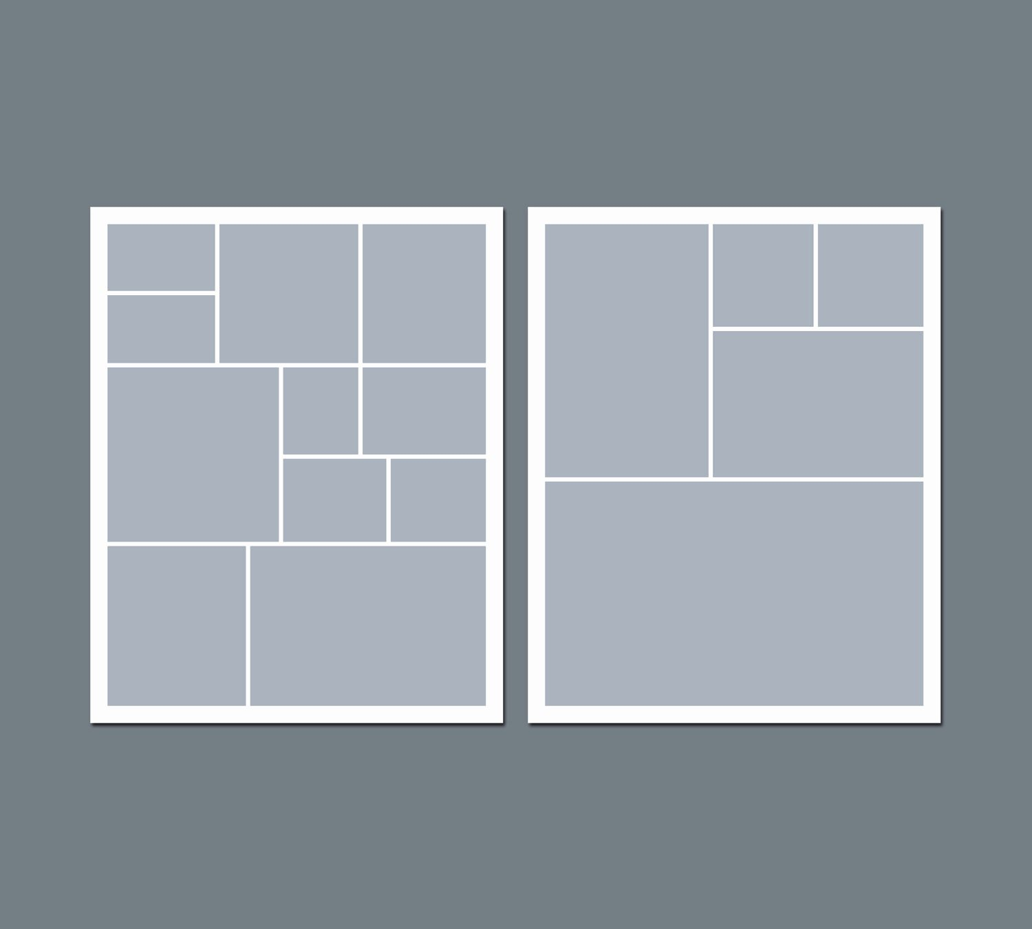 Instant Download Digital Collage Template 8 X 10