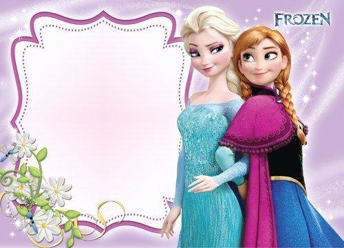 Instant Download Disney Frozen Blank Invitations