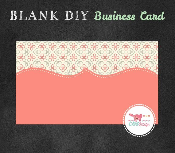 Instant Download Diy Blank Business Card Template Premade