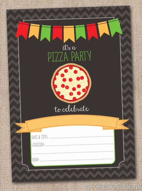 instant pizza party invitation