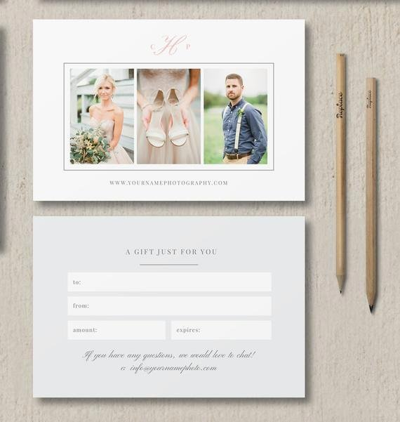 Instant Download Sale Graphy Studio Gift Card Template