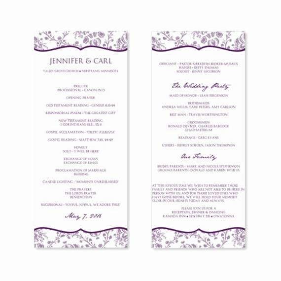 instant wedding program