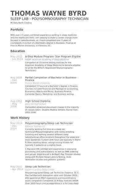 Instrument Technician Resume Best Resume Gallery