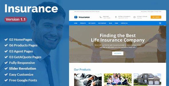 Insurance Agency 5 Website Template 10 Unbelievable