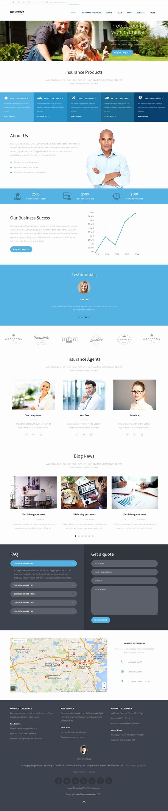 Insurance Agency HTML5 Website Template