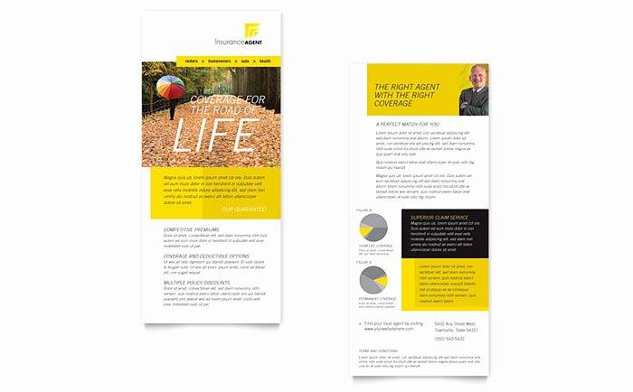 Insurance Agent Rack Card Template Design