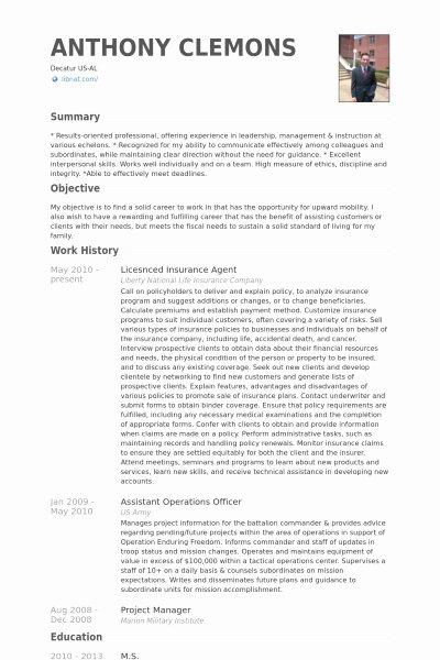 Insurance Agent Resume Best Resume Collection
