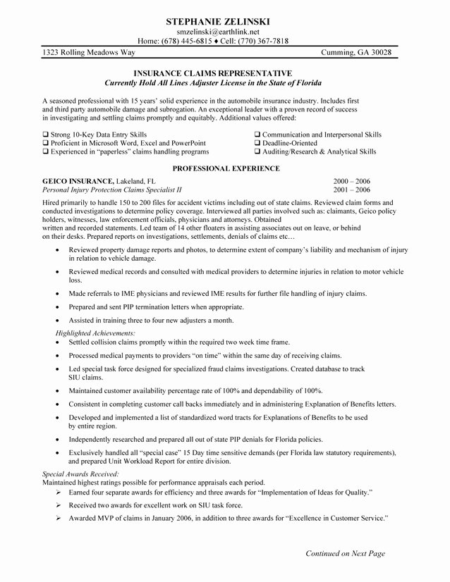 Insurance Broker Resume Objective Samples