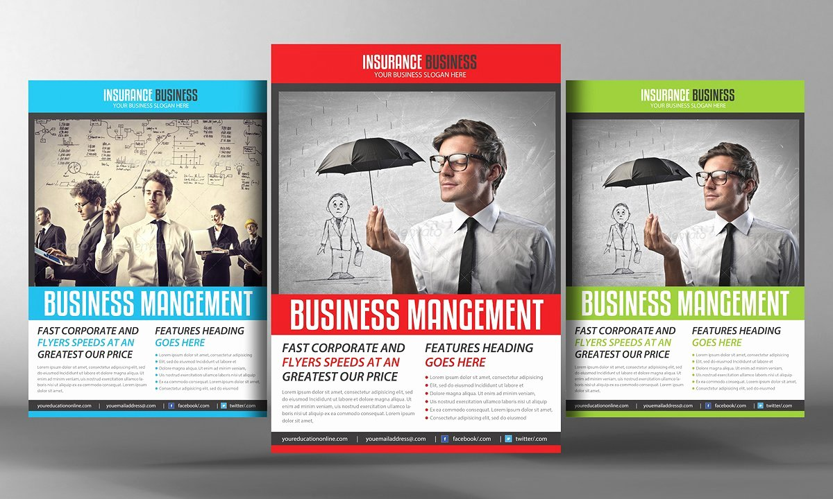 Insurance Business Flyer Template Flyer Templates On