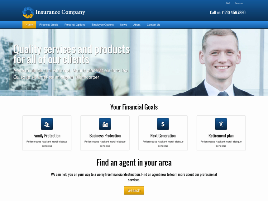 Insurance Pany Wordpress theme Premium Web Template