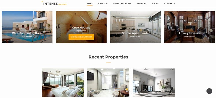 Intenese Real Estate Bootstrap Website Template
