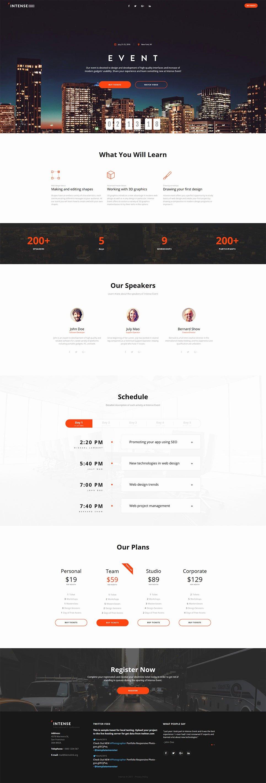 Intense event Planner HTML5