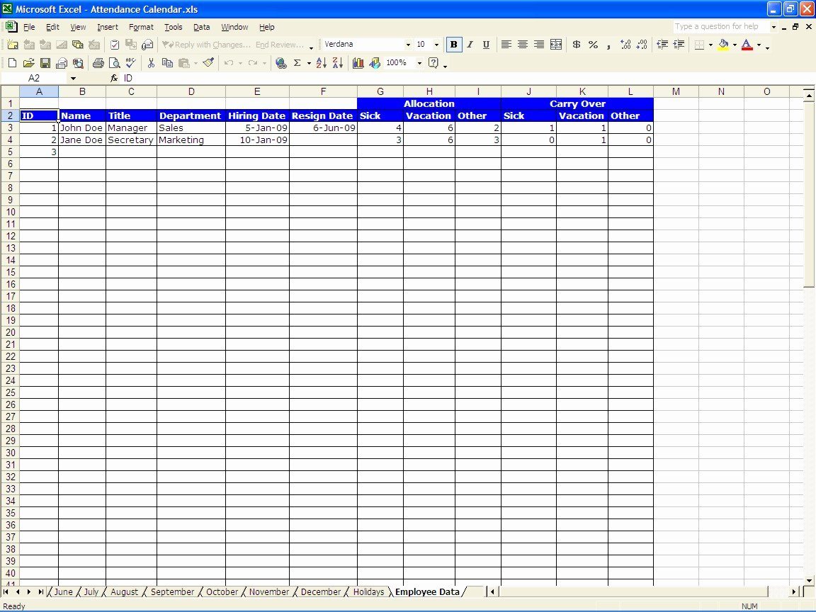 Interesting attendance Sheet Excel Template Example for