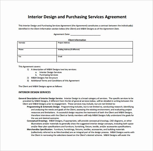 Interior Design Contract Sample Pdf