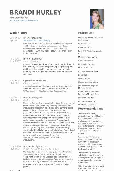 Interior Design Resume Best Resume Collection