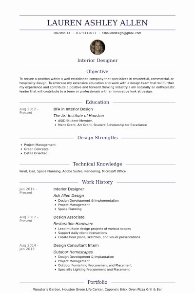 Interior Design Resume Sample Best Resume Collection