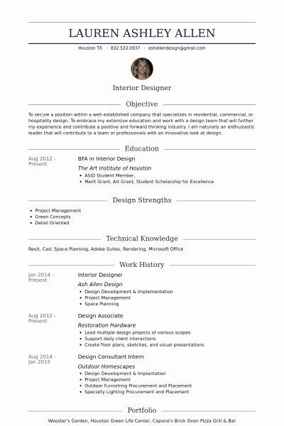 Interior Design Resume Sample Best Resume Collection