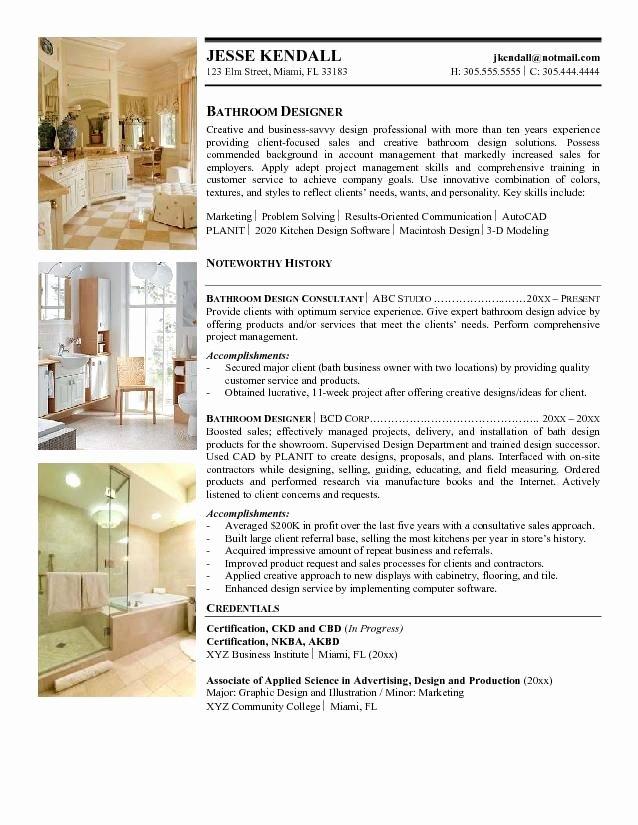 Interior Design Sample Resume Umecareer