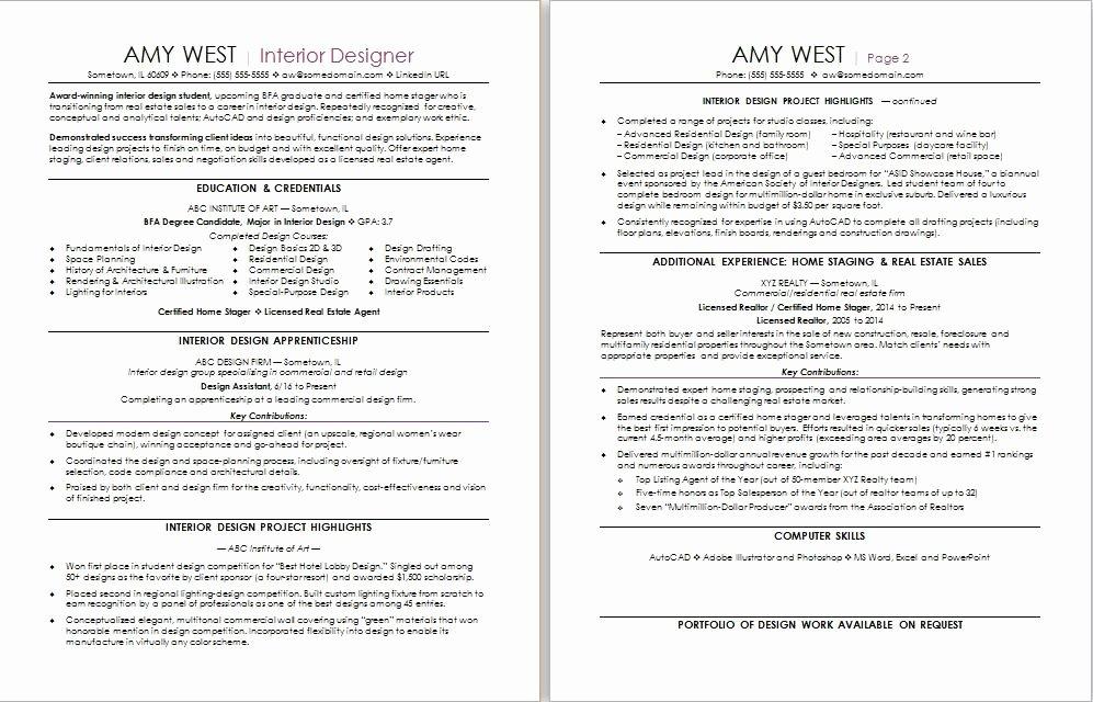 Interior Design Skills for Resume