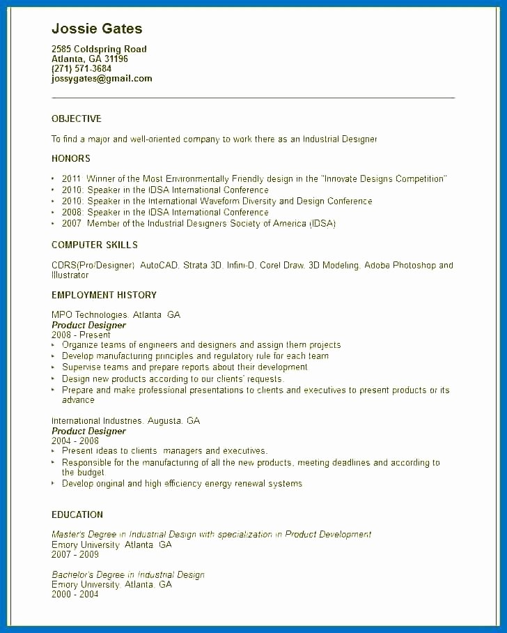 Interior Design Student Resume Objective Samples