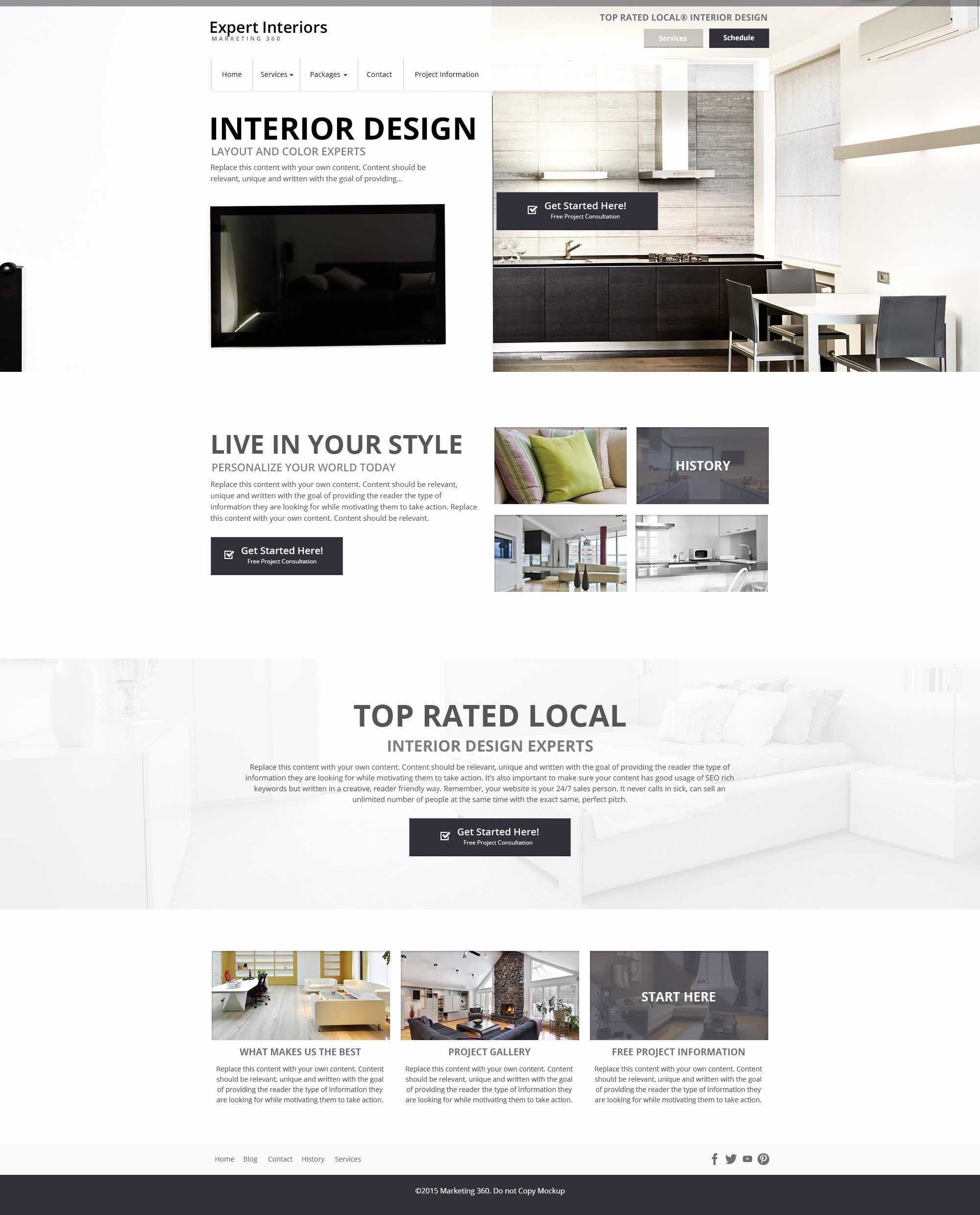 Interior Design Website Templates Mobile Responsive Web