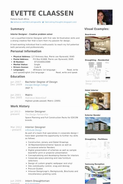 Interior Designer Resume Template Best Resume Collection