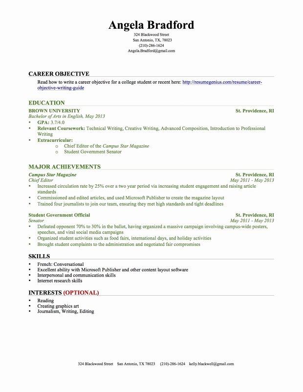Intern Resume Sample Chemical Engineering Internship