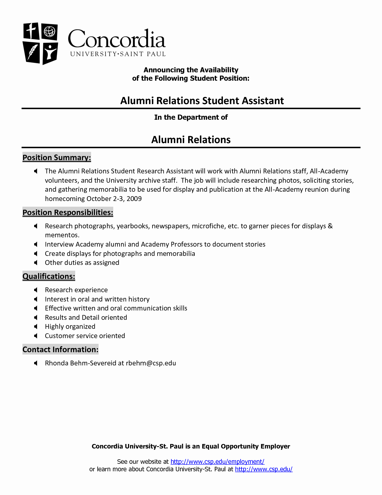 Internal Job Posting Template