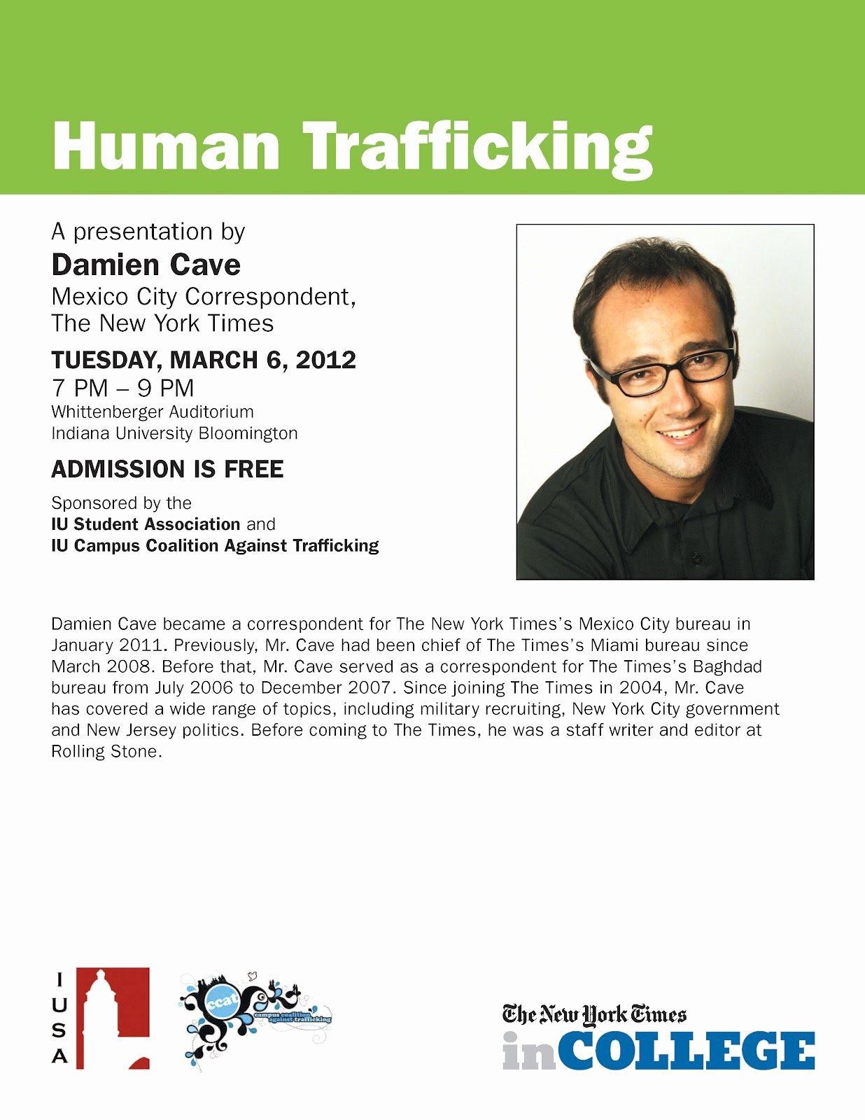 International Stu S Iu Damien Cave Talk On 3 6