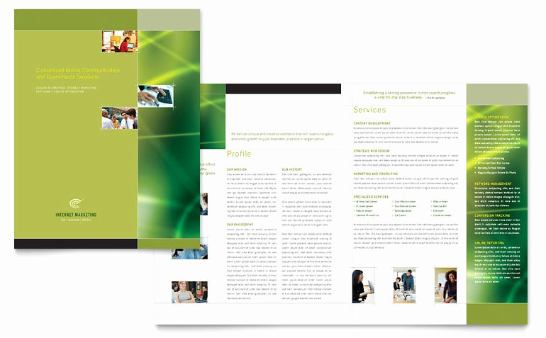 Internet Marketing Brochure Template Word & Publisher