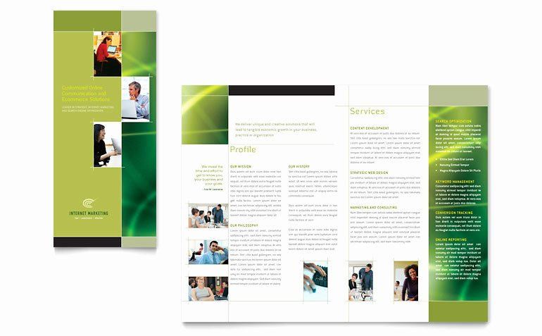 Internet Marketing Tri Fold Brochure Template Word