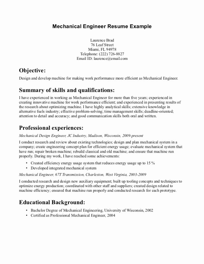 Internship Objective Resume