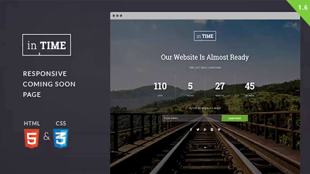 Intime Responsive Ing soon Template