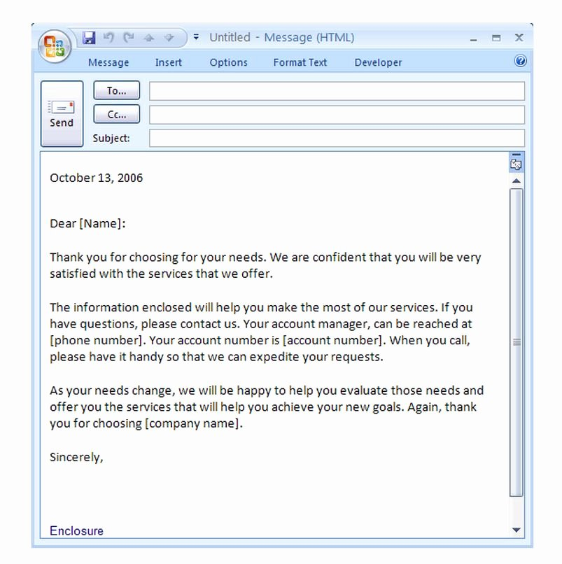 Introduction Email Template