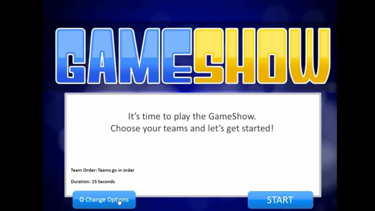 Introduction to the Powerpoint Gameshow Template